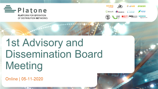 First Platone Advisory and Dissemination Board Meeting